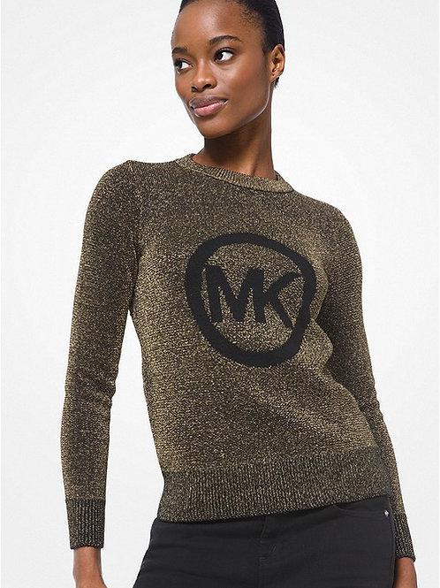 MICHAEL KORS Logo Metallic Knit Sweater