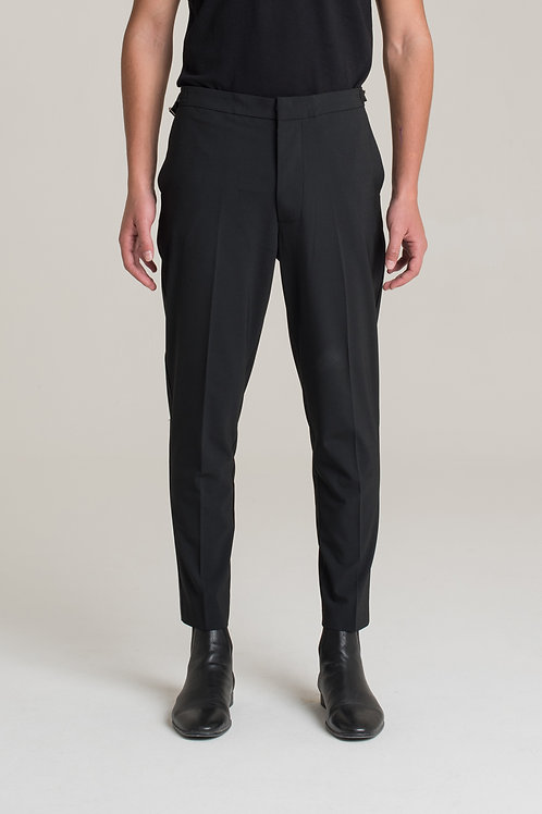I'M BRIAN Regular trousers with adjustable buckles at the waist