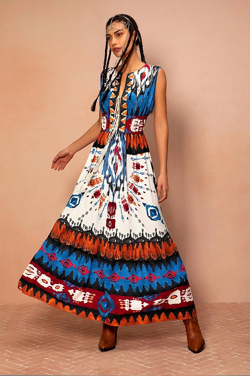 Peace&Chaos PAINTED NAVAJO LONG DRESS