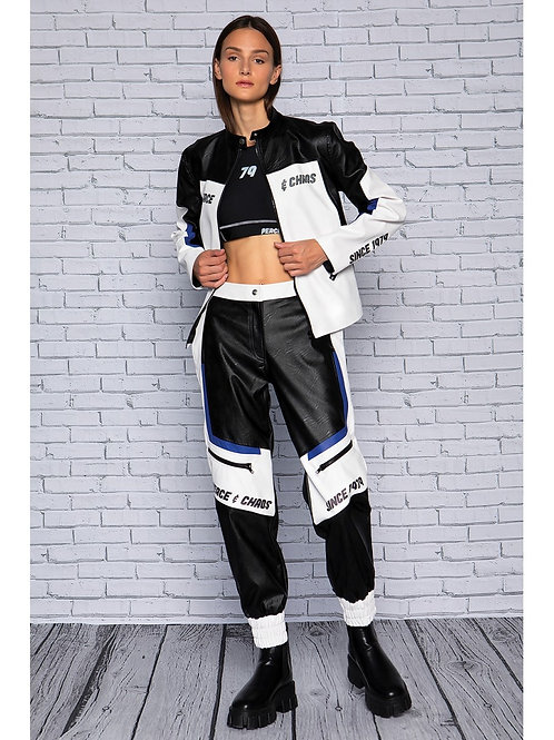 Peace&Chaos eco leather printed pants