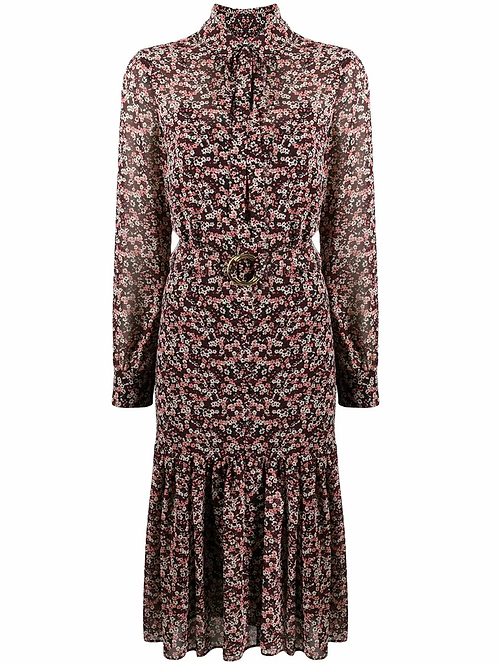MICHAEL KORS Dainty Floral-print Belted Dress