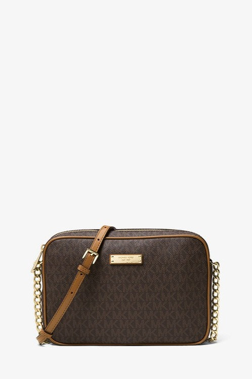 MICHAEL KORS Jet Set Travel Logo Crossbody Bag