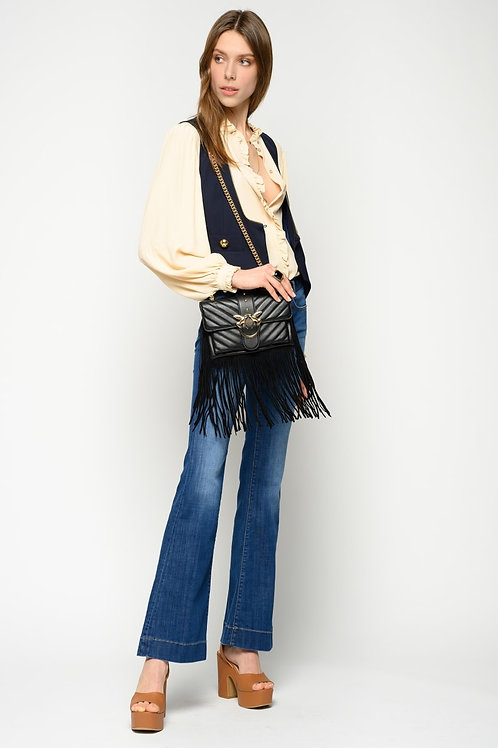 PINKO FLARE-FIT JEANS WITH BELT