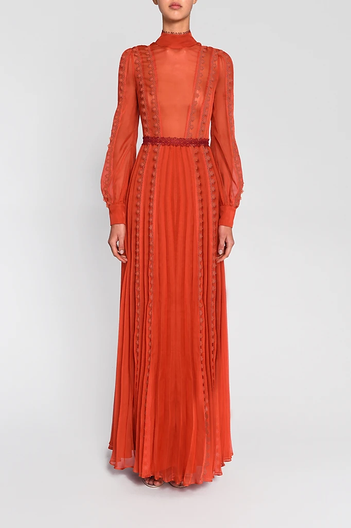 True Decadence True Decadence Burnt Orange Long Sleeved Maxi Dress