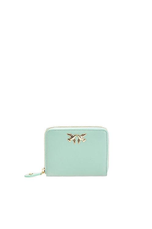PINKO Leather zip-around wallet