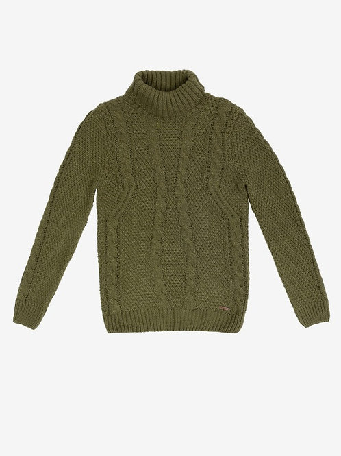 GIANNI LUPO Cable Knit Turtleneck jumper