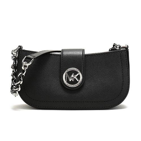 MICHAEL KORS Carmen Extra-Small Studded Saffiano Leather Shoulder Bag