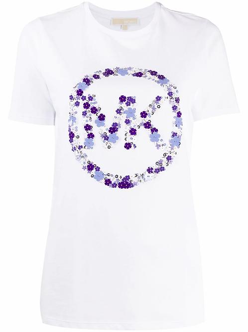 MICHAEL KORS logo emb print circle tee