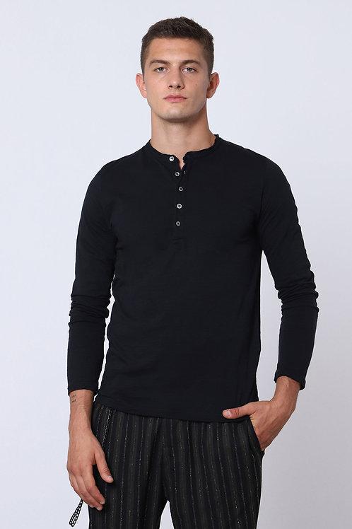 IMPERIAL Long-Sleeved Granddad-Neck T-Shirt
