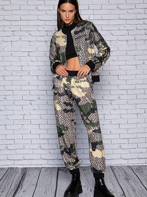 Peace&Chaos Camo Motif SequinJacket