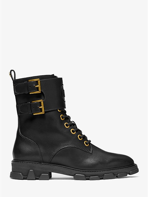 MICHAEL KORS Ridley Leather Combat Boot