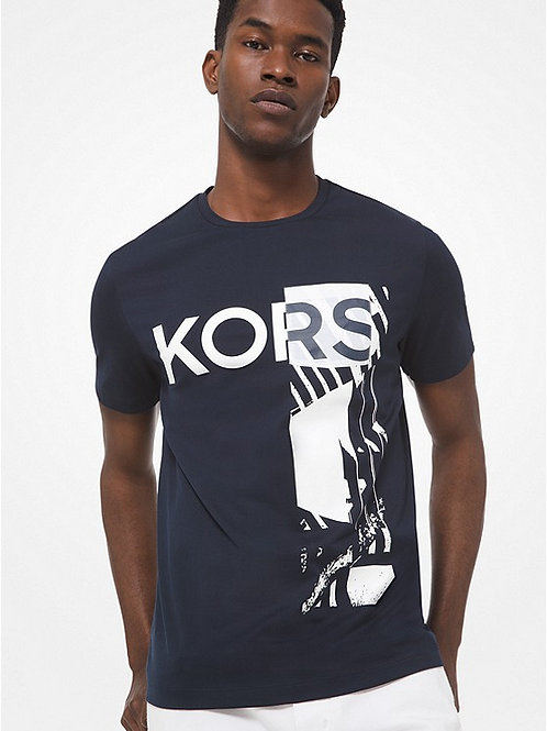 MICHAEL KORS Graphic Logo Cotton T-Shirt