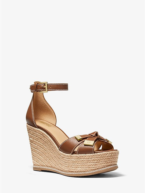 MICHAEL KORS Ripley Leather Wedge Sandal