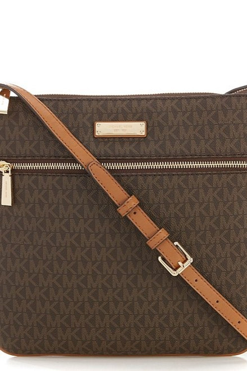 MICHAEL KORS Bedford Signature Flat Crossbody Bag