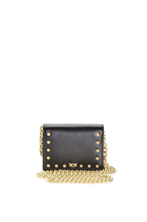PINKO  Mini Card Holder With Shoulder Strap