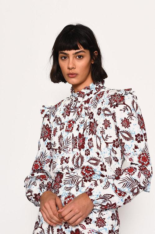 GLAMOROUS  Burgundy Floral Shirt