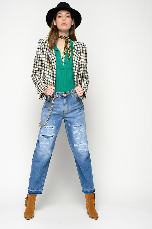 PINKO Maadness Mom-Fit Jeans