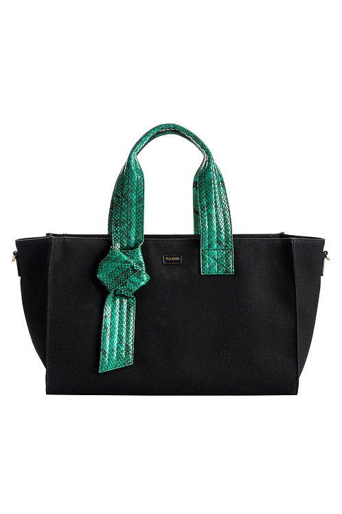 PINKO Horizontal Medium Shopping Bag Recycled Canvas FL