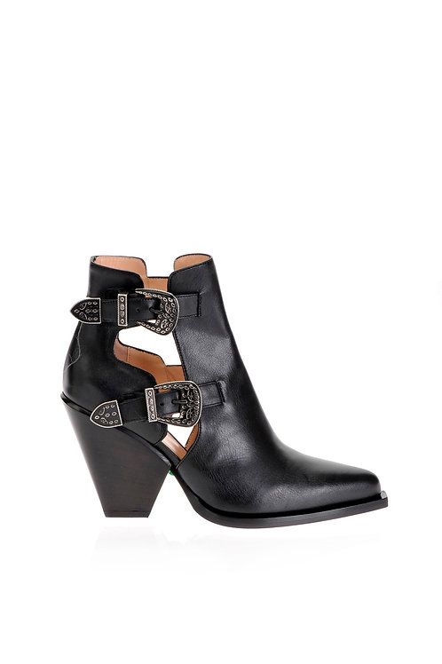 PINKO Cowboy Ankle Boots With Openings