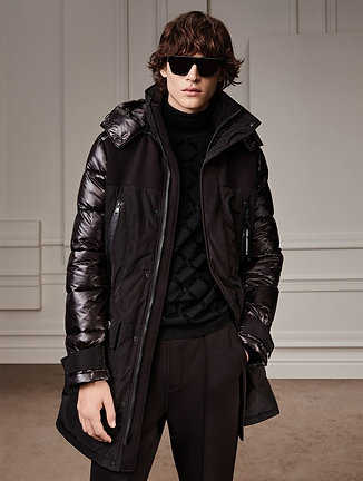 KARL LAGERFELD LONG HOODED PARKA