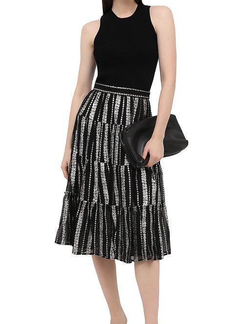 MICHAEL KORS Silver Patterned Skirt