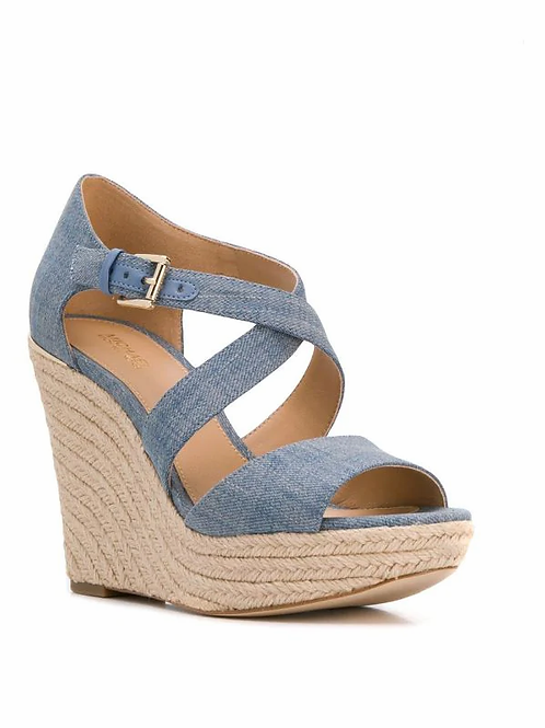 MICHAEL KORS Abbott Wedge Denim