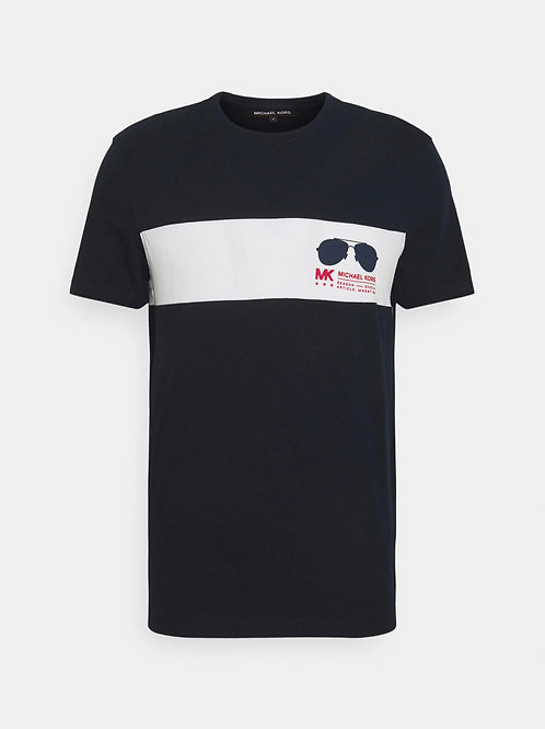 MICHAEL KORS Aviator Logo Cotton T-Shirt