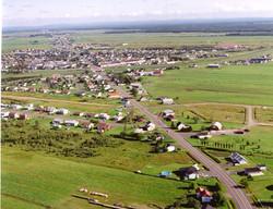 Vue aérienne de Laurier-Station