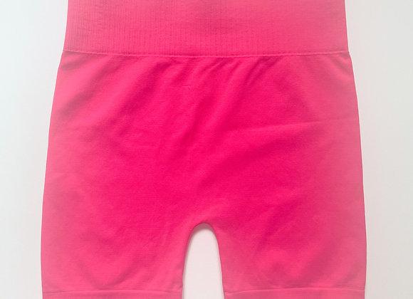 Hot Pink Smooth Biker Shorts