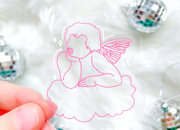 Angel Sticker- Clear