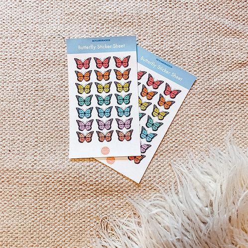 Mini Butterly Sticker Sheet