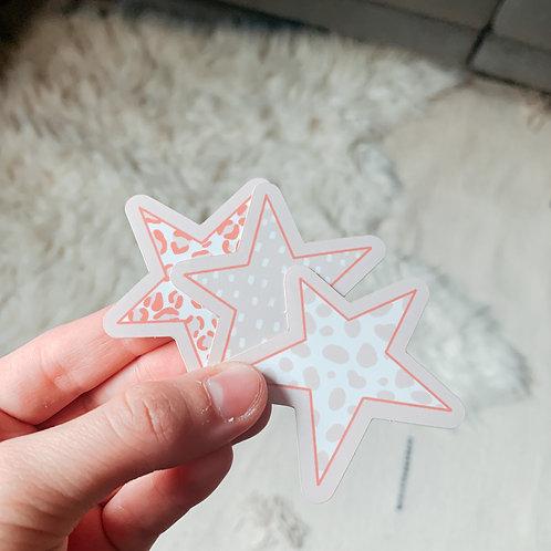 Patterned Star Sticker Pack