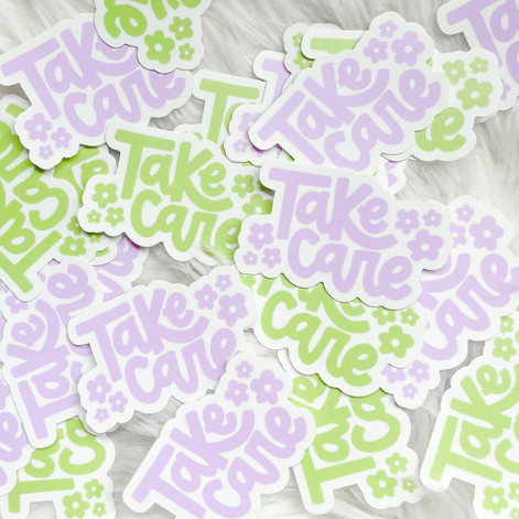 Take Care Stickers