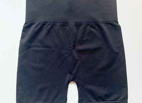 Black Smooth Biker Shorts