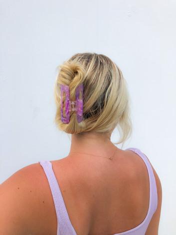 Purple Claw Clip