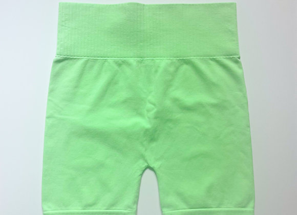 Green Smooth Biker Shorts