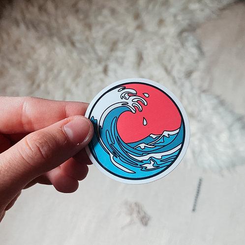 Pink Wave Sticker