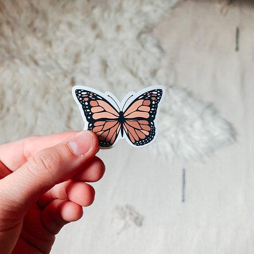 Neutral Butterfly Sticker