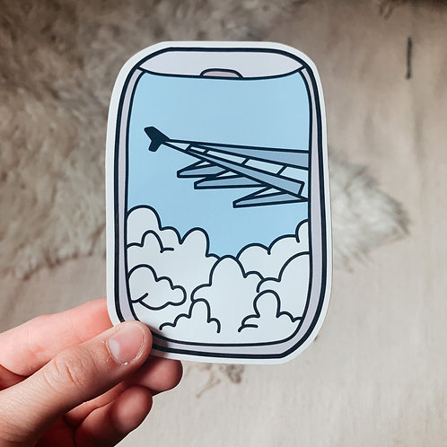 Large Plane Window Sticker
