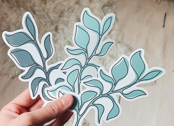 Large Sketched Leaf Pack
