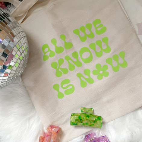 Claw Clips and All We Know is Now Tote Bag