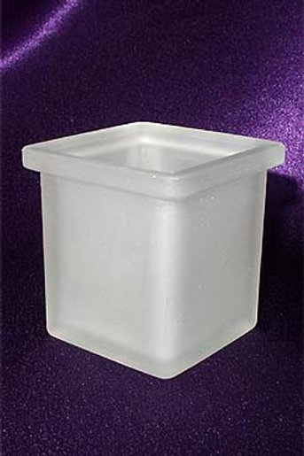 Frosted Glass Square Votive Candle Holder