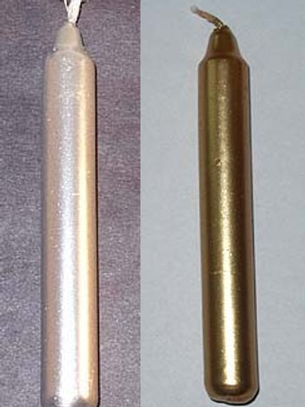Metallic Silver or Gold Candles