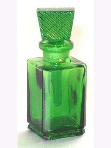 Square Perfume Bottle - Green