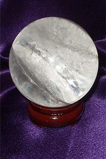 Natural Clear Quartz Crystal Ball