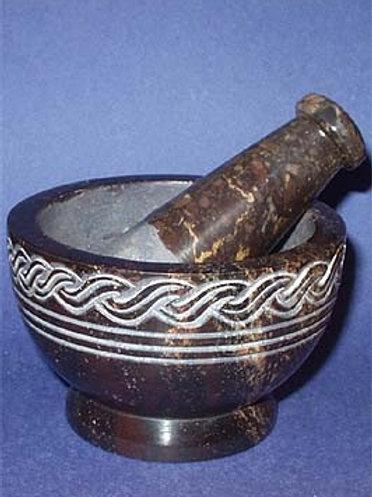 Celtic Scroll Mortar & Pestle