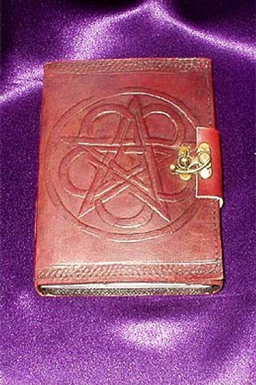Leather Book of Shadows Pentagram