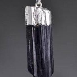 Rough Black Tourmaline Pendant