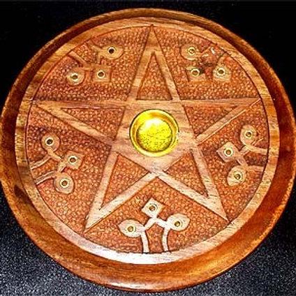 Round Pentagram Ash Catcher