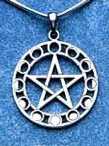 Pentagram with Moon Phases
